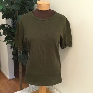 H&M divided olive green medium tee
